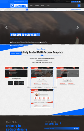 NewMetro Aviation Website Template