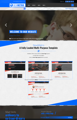 NewMetro Computers Website Template