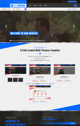 newmetro family website template