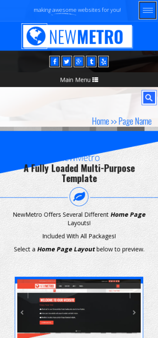 Mobile: Insurance Frontpage Template