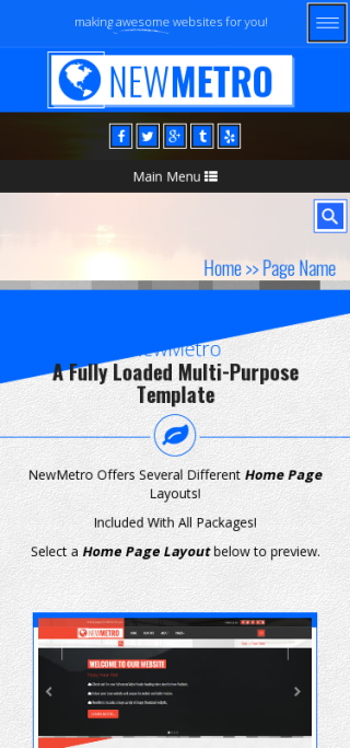 Mobile: Sailing Web Template