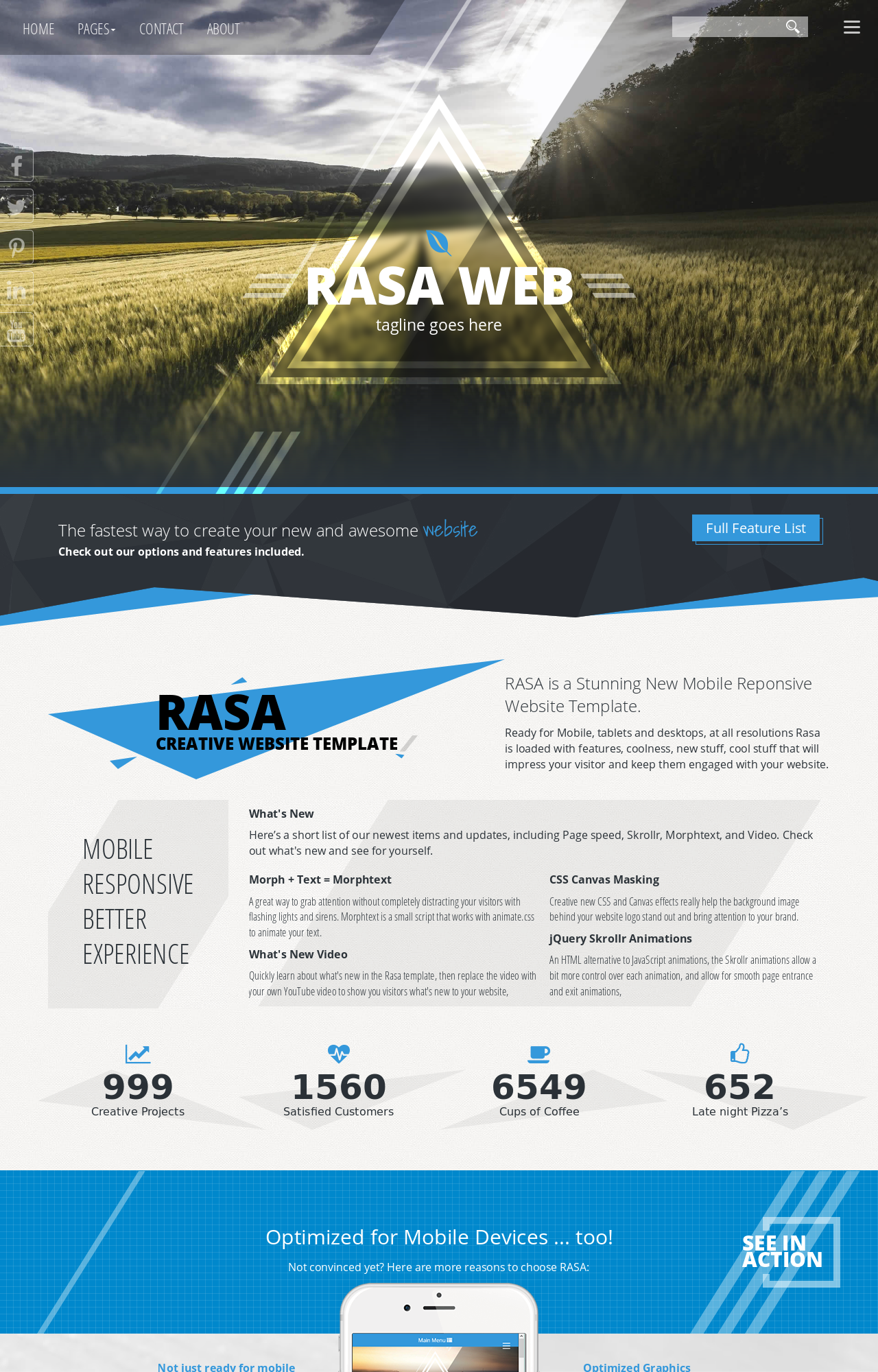 Rasa [HD] Agriculture Blue/Black | Agriculture Web Template