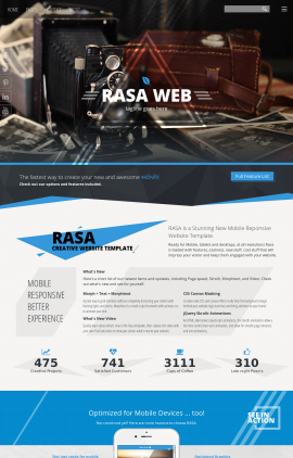 Rasa Antiques Website Template