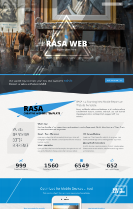 Rasa Art-supplies Website Template