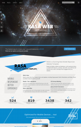 Rasa Astronomy Website Template
