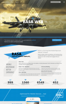 Rasa Aviation Website Template