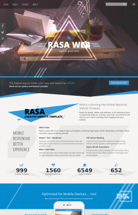 Rasa Bed-and-breakfast Website Template