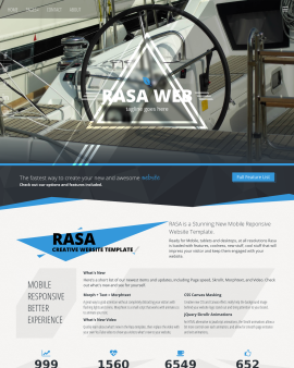 Rasa Boating Website Template
