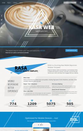 Rasa Cafe Website Template