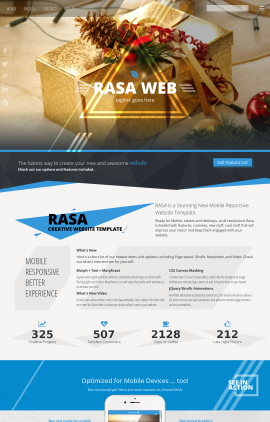 Rasa Christmas Website Template