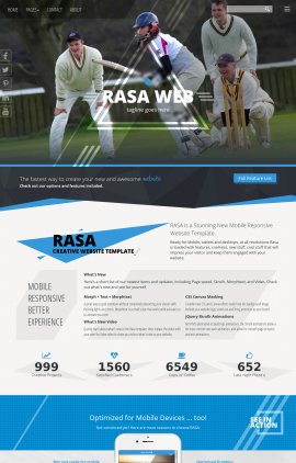 Rasa Cricket Website Template