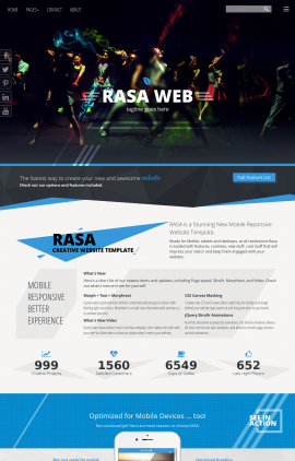 Rasa Dance Dreamweaver Template