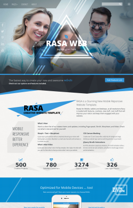 Rasa Dental Website Template