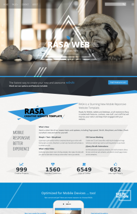 Rasa Dogs Website Template