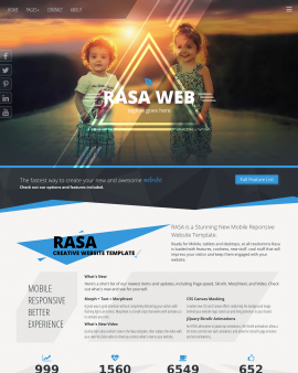 rasa family website template
