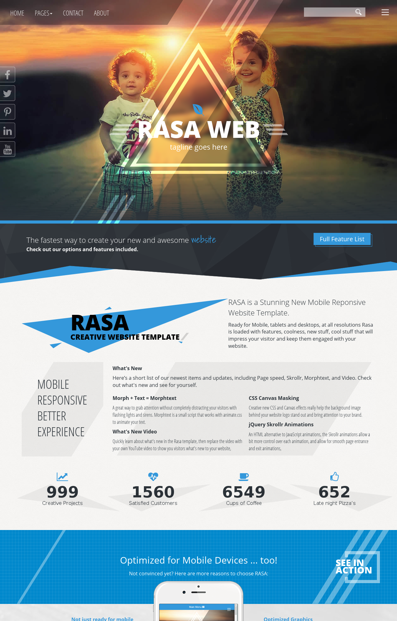 Rasa Hd Family Blueblack Family Dreamweaver Template