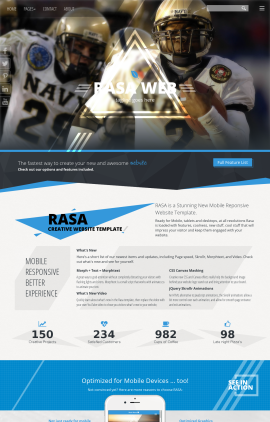 Rasa Football Website Template