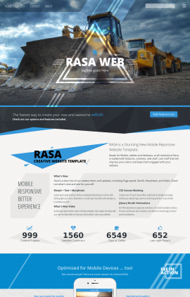Rasa Heavy-machines Website Template