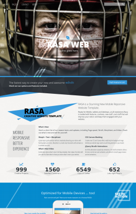 Rasa Hockey Website Template