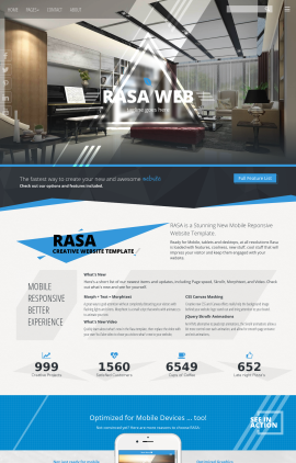 Rasa Interior-design Website Template