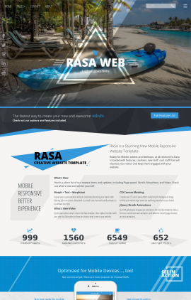 Rasa Kayak Website Template
