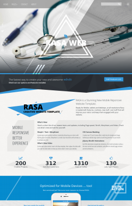 Rasa Medical Website Template