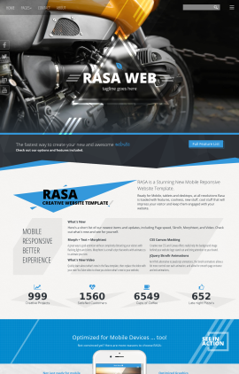 Rasa Motorcycle Website Template