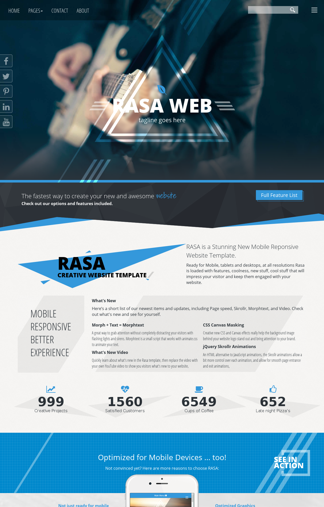 Tablet: Music Web Template