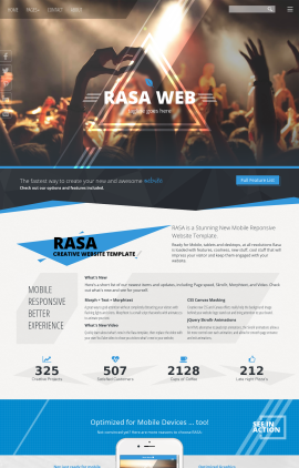 Rasa Night-club Website Template