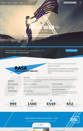 Rasa Patriotic Web Template