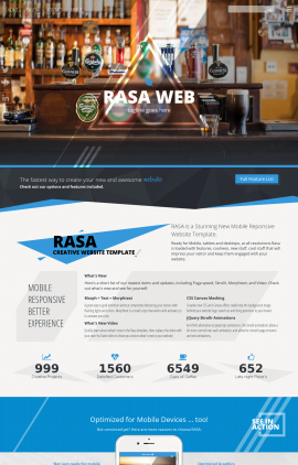 Rasa Pub Website Template