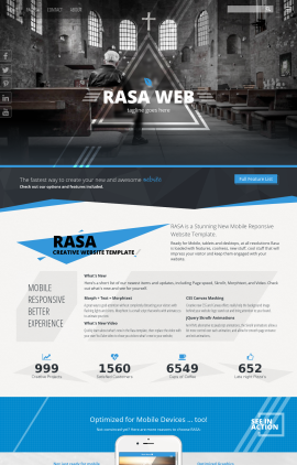 Rasa Religion Web Template