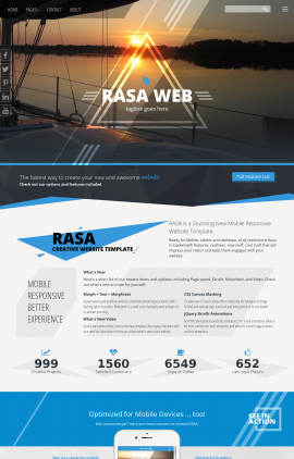 Rasa Sailing Website Template