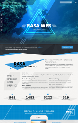 Rasa Scuba-diving Website Template