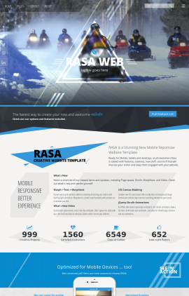 Rasa Snowmobile Website Template