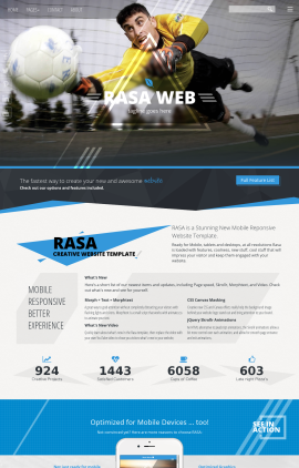 Rasa Soccer Website Template