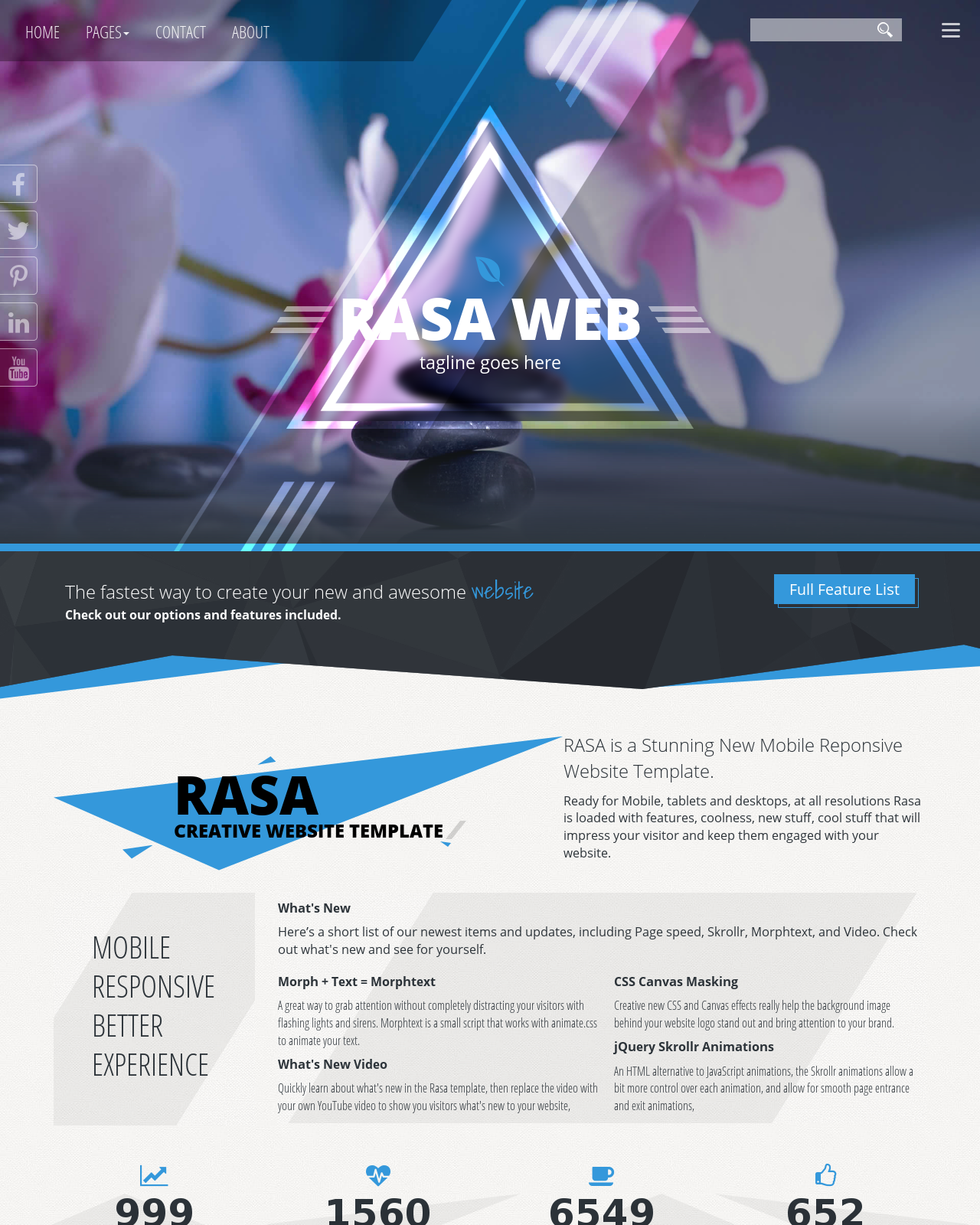 Rasa HD Spa BlueBlack Spa Web Template - Design your own website template