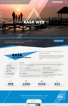 Rasa Travel Website Template
