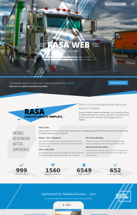 Rasa Trucking Website Template
