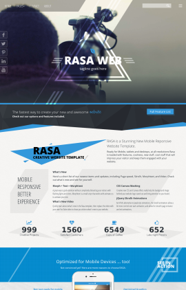 Rasa Videography Website Template