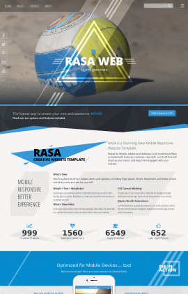 Rasa Volleyball Website Template