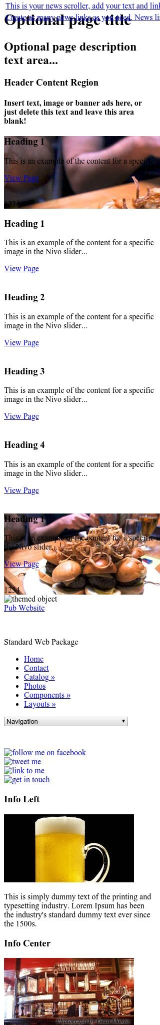 Mobile: Pub Web Template