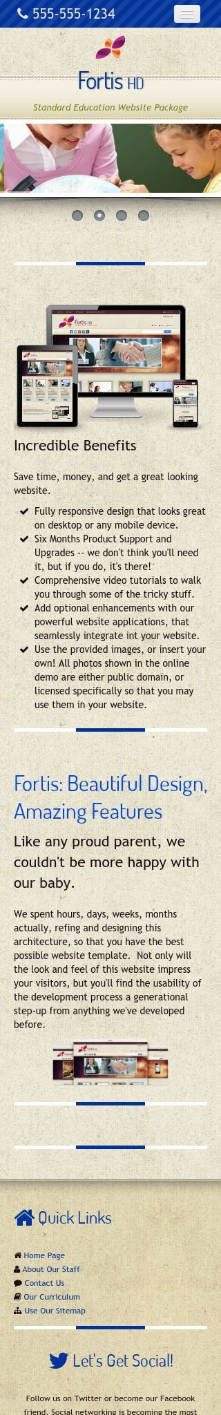 Mobile: Education Dreamweaver Template