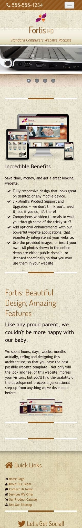 Mobile: Computers Dreamweaver Template