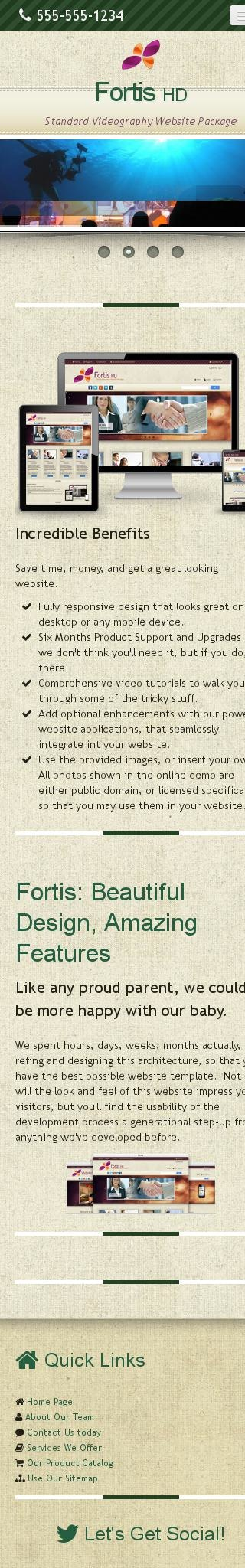 Mobile: Videography Web Template