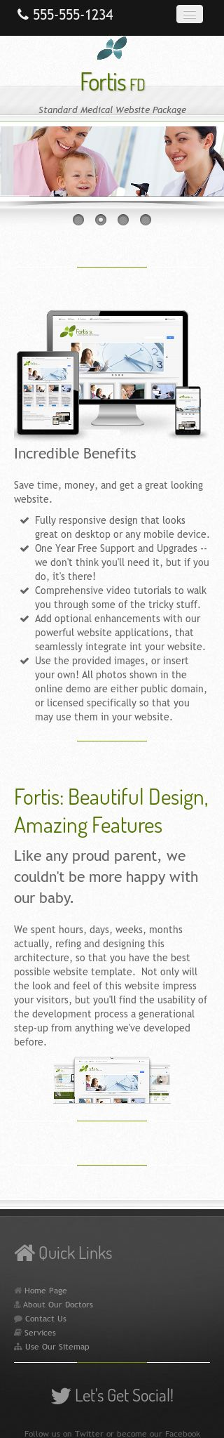 Mobile: Medical Frontpage Template