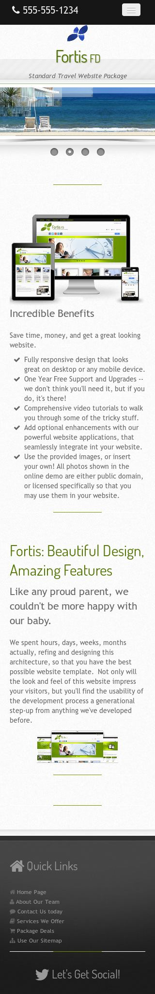 Mobile: Travel Wordpress Theme