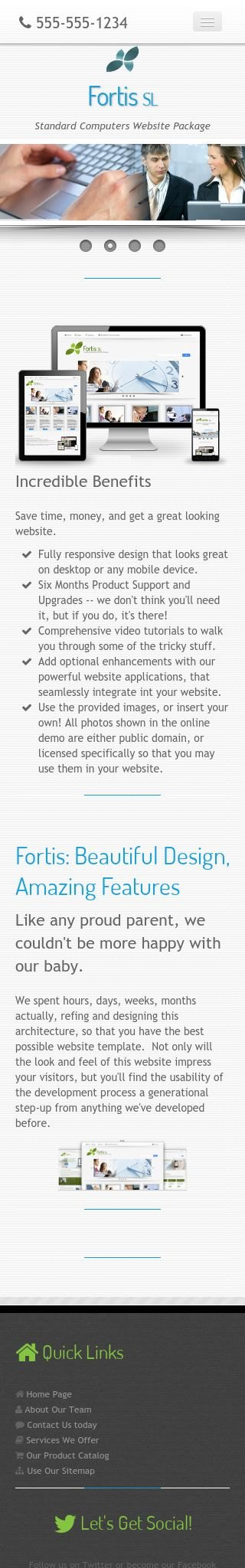 Mobile: Computers Web Template