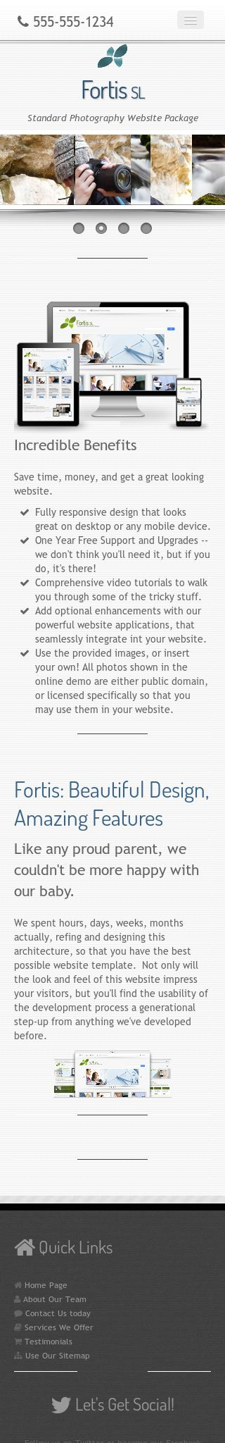 Mobile: Photography Wordpress Theme