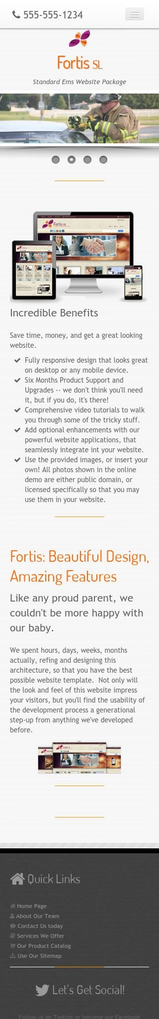 Mobile: Ems Wordpress Theme